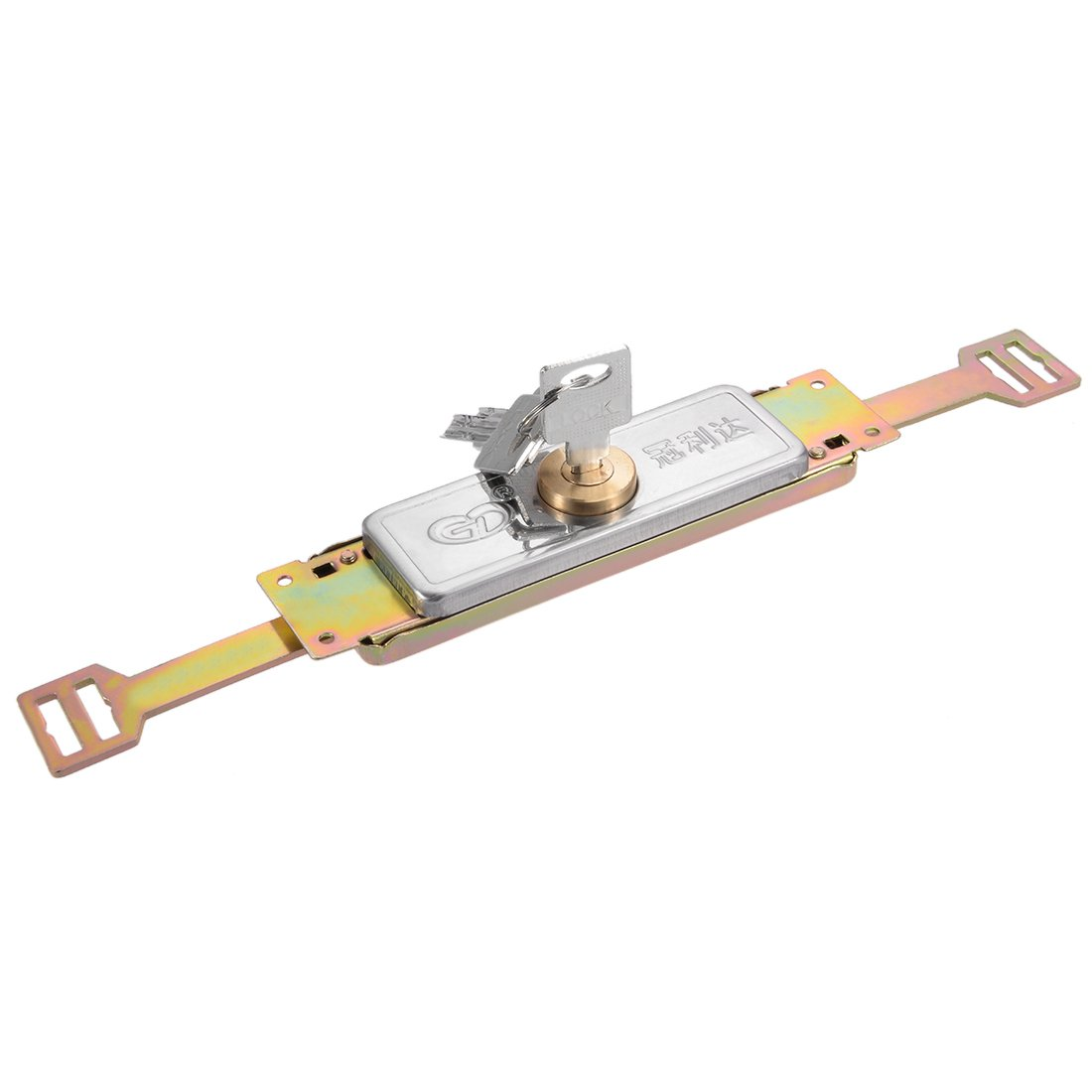 uxcell 302mm Locked Length Cylinder Moon Key Type Safety Rolling Shutter Door Lock