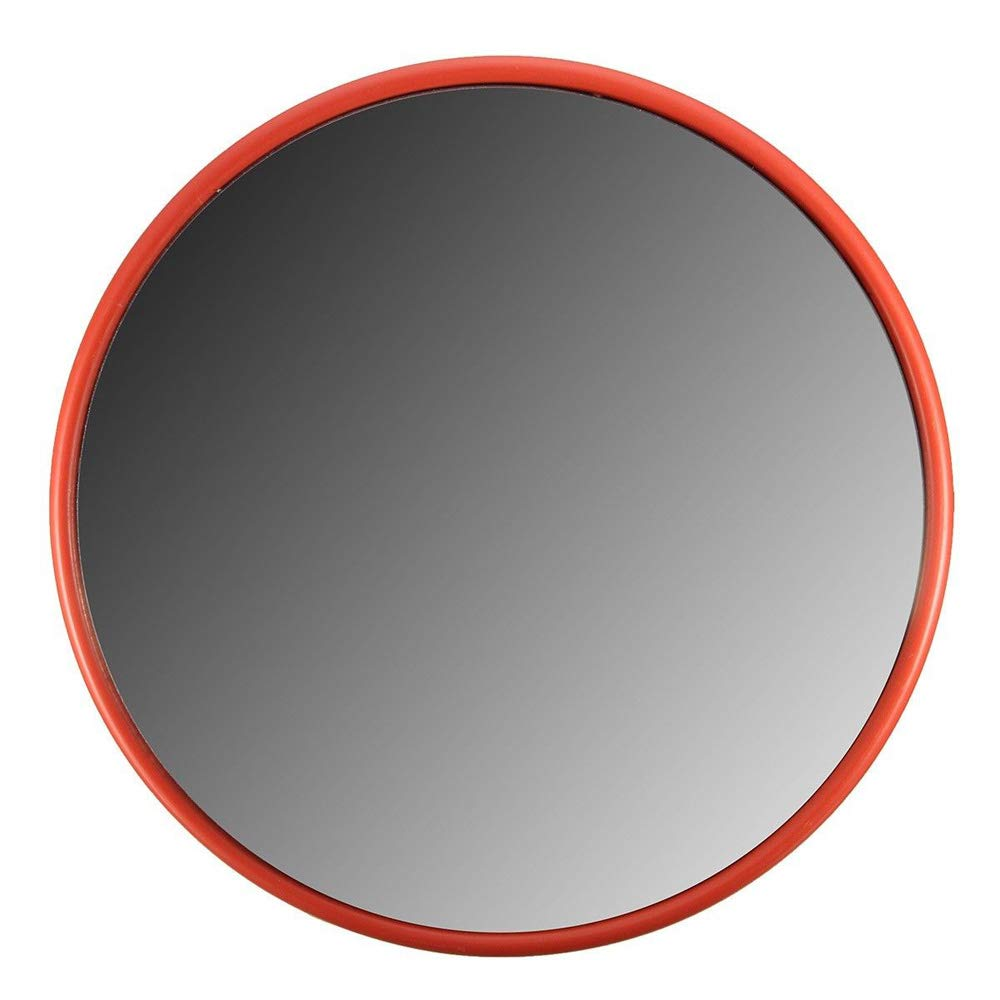 Orange TOOGOO 30Cm Wide Angle Security Road Mirror Curved for Indoor Burglar Outdoor Safurance Roadway Safety Traffic Signal Convex Mirror
