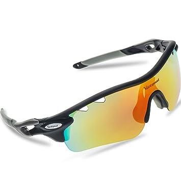 Léger Sport lunettes de Soleil Hommes Femmes Polarisées Lunettes de Sport Baseball Course Cyclism Vélo Pêche Golf (Jaune / Gris polarisé) H0dflvNgZL