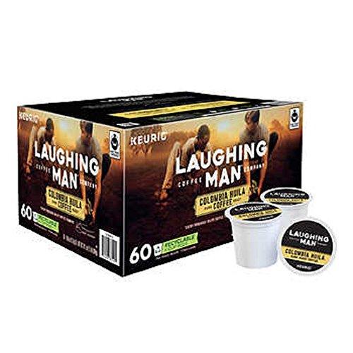 Laughing Man Hugh Jackman Single-Serve Fair Trade Keurig Recyclable K-Cup Arabica Coffee
