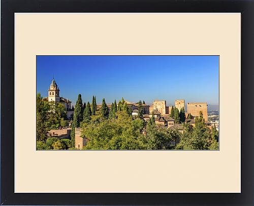 Framed Print of Alhambra Church Castle Towers Granada Andalusia Spain by Fine Art Storehouse