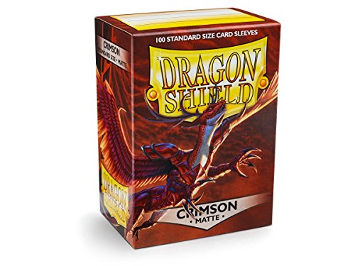 Dragon Shield Matte Crimson Standard Size Card Sleeves Display Box [10 Packs] by Dragon Shield (Image #1)