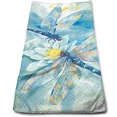 Plaid Dragonfly - Cotton Dragonfly Plaid Bath Towels for Bathroom-Hotel-Spa-Kitchen-Set - Circlet Egyptian Cotton - Highly Absorbent Hotel Quality Towels 12