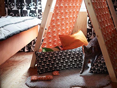 Ikea Cojín Gatos 30 x 60 cm cuello rollo Negro de color ...