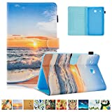 Galaxy tab E 8.0 T377/T375 Case,UUcovers Slim Fit Folio Stand Walllet Case [Pen Slot] &Free Stylus for Samsung galaxy tab E 8.0 SM-T377/SM-T375,Sunrise