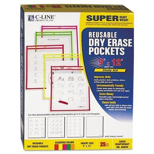 CLI40820 - Reusable Dry Erase Pockets by C-Line (Image #1)