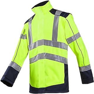 SIOEN 167AA2TU2278XL Drayton Hi-Vis Softshell Jacket With Detachable Sleeves, X-Large, Hi-Vis Yellow/Navy