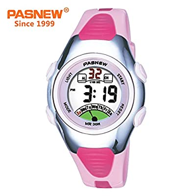 Outdoors Sports Digital Girls Watches Multi Functions Led Water Resistant Kids Wirst Watches by AZLAND