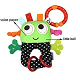 Baby rattles toys small robots hanging infant Bell rubber ring pip boy stroller teethers toys