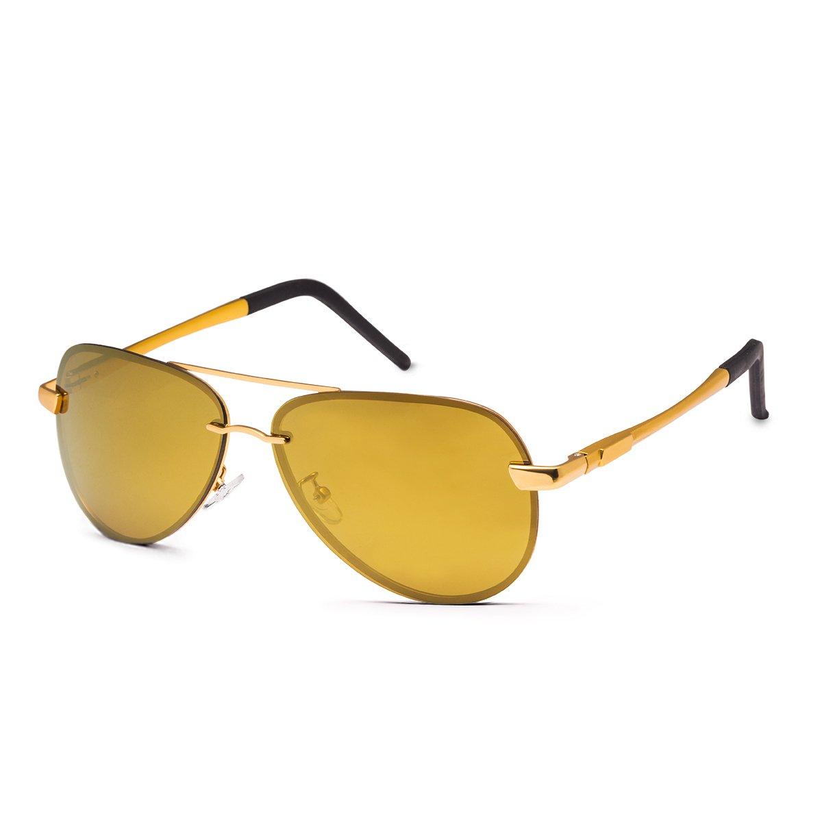 Aviator Sunglasses WISH CLUB polarized sunglasses Men\'s Retro Designer Shades UV400 Lens Outdoor Unisex Sun Glasses