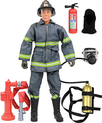 12 Military Inch Figures (Click N' Play CNP30640 Urban Firefighting Action Figure Play Set with Accessories, 12