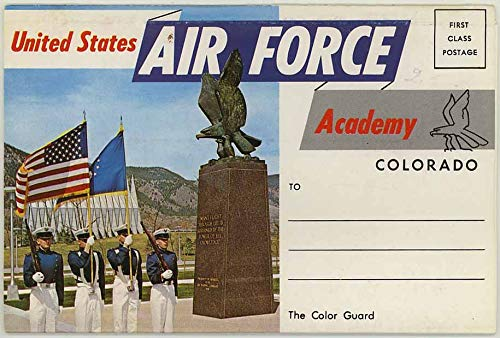 United States Air Force Academy Colorado - 1968 Dexter Souvenir Postcard Folder