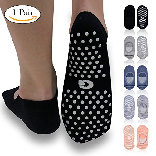 Yoga Pilates Grip Socks, Gmark Womens Gift Exercise Sock for Ballet Barre Non Slip with Silicone