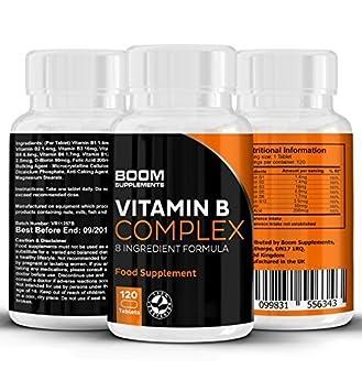 Vitamina B Complex | Complejo de vitamina B altamente efectivo | 120 potentes tabletas | Dosis COMPLETA por 4 meses | Contiene las 8 vitamina B | ...
