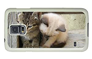 Hipster Samsung Galaxy S5 Case customize covers cute kittens PC White for Samsung S5
