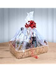 woodluv Create Your Own - Wicker Gift Hamper Basket Kit, Christening, Wedding, Baby Shower or Birthday Gift - Natural