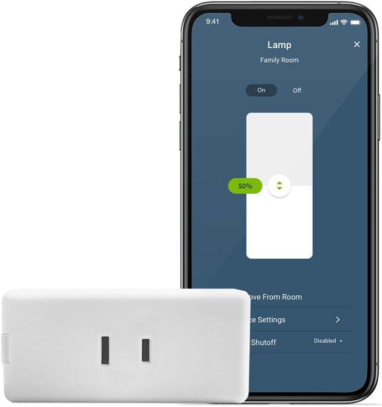 Leviton D23LP-2RW Decora Smart Wi-Fi Mini Plug-In Dimmer (2nd Gen), Works with Hey Google, Alexa, Apple HomeKit/Siri, and Anywhere Companions, No Hub Required