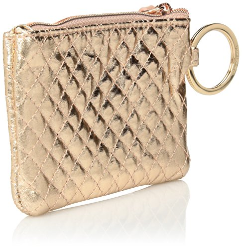 Vera Bradley Iconic Zip ID Case, Foiled Cotton, Rose Gold Shimmer by Vera Bradley (Image #2)