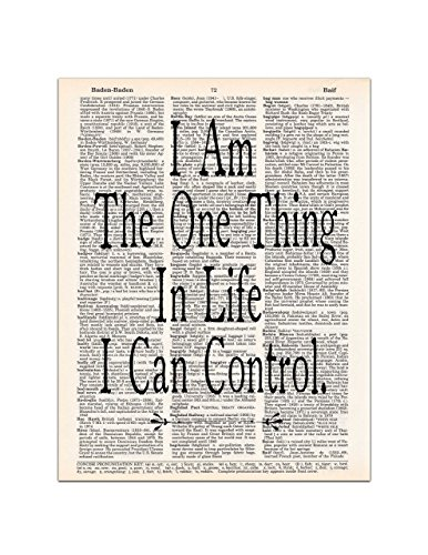 I am the One Thing in Life I Can Control, Hamilton Quote, Dictionary Page Art Print, 8x11 (Hamilton Gifts)