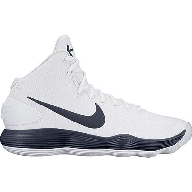 a9e743d16161 Nike Men s React Hyperdunk 2017 White College Navy Nylon Running Shoes 9 D(M