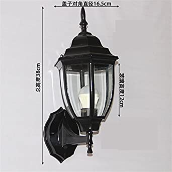 Sisanlai Lampe De Mur Haut Bas Applique Murale étanche Extérieur