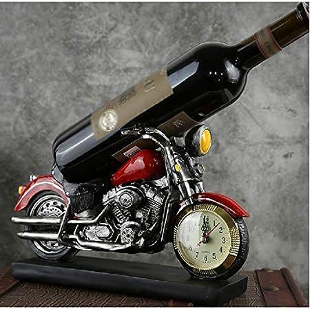 Aiglen Estante de Vino Modelo de Motocicleta de Coche Europeo, gabinete de Vino Creativo para Sala de Estar, Estante de Vino, Manualidades, decoración de Escritorio para el hogar