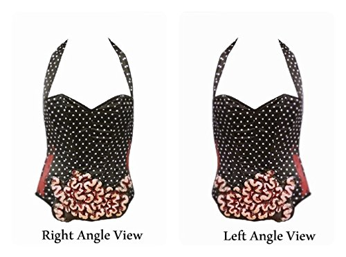 Hot Topic Black Polka Dots Bustier with 3D Blood and Guts Zombie Costume Size: Medium -