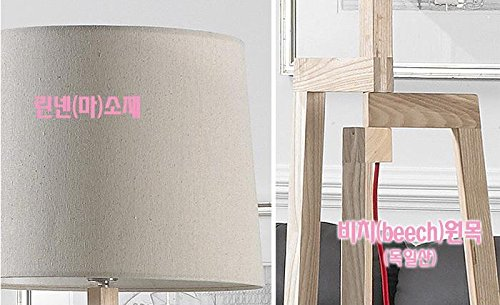 LUMIN MW04 European Luxury Noblesse Natural Beech Wood Floor Stand Lamp Light Linen Shade Great Interior for Your Home Deco / 9W Osram LED Bulb Including by Lumin (Image #2)