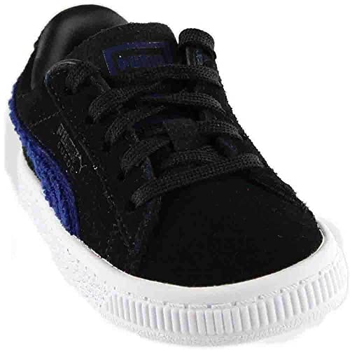 1fa1723ba8fa Puma Kids Baby Boy s Suede Classic Terry (Toddler) Puma Black Blue Depths 5  M US Toddler  Amazon.co.uk  Shoes   Bags