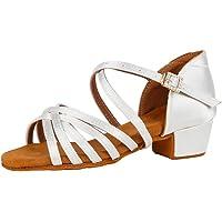 AOQUNFS Zapatos de Baile de Salon Latino Mujer& Niña Salsa y Bachata,SS-ZSZK