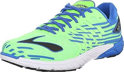 Brooks Men's PureCadence 5 Green Gecko/Electric Brooks Blue/Black Sneaker 10.5 D (Brooks Trainer)