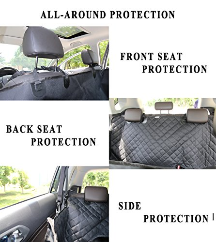 ELETIST Dog Seat Cover Pet Seat Cover Scratch Proof Waterproof Nonslip Dog Hammock Easy Clean Dog Car Seat Covers Pet BackSeat Covers For Cars Trucks And SUVs 54X58 Inches