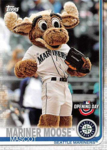 2019 Topps Opening Day Mascots #M-7 Mariner Moose Seattle Mariners MLB Baseball Trading Card