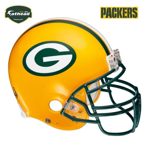 Fathead Green Bay Packers Helmet Wall Decal - Fathead Green Bay Packers Helmet