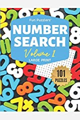 "Fun Puzzlers Number Search: 101 Puzzles Volume 1: 8.5"" x 11"" Large Print (Fun Puzzlers Large Print Number Search Books) Paperback"