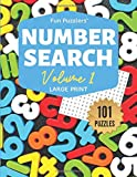"Fun Puzzlers Number Search: 101 Puzzles Volume 1: 8.5"" x 11"" Large Print (Fun Puzzlers Large Print Number Search Books)"
