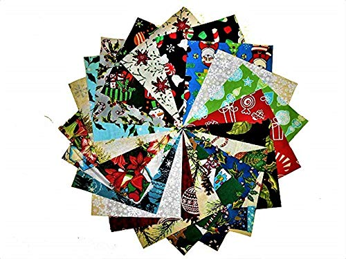80 5 Beautiful Christmas Charm Pack # 1-20 DIFFERENT PRINTS-4 OF EACH #1 Concord/RJR/Kaufman