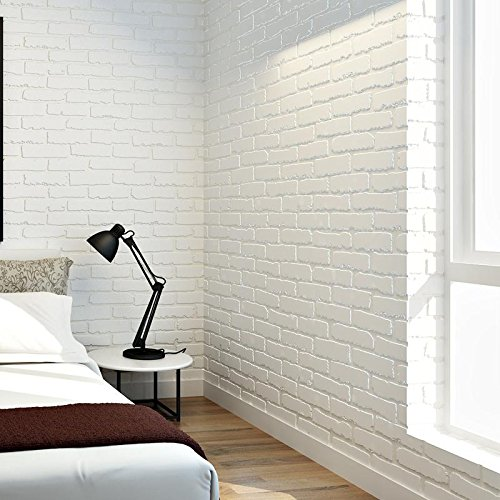 Brick effect wallpaper storeiadore - Imitacion ladrillo blanco ...