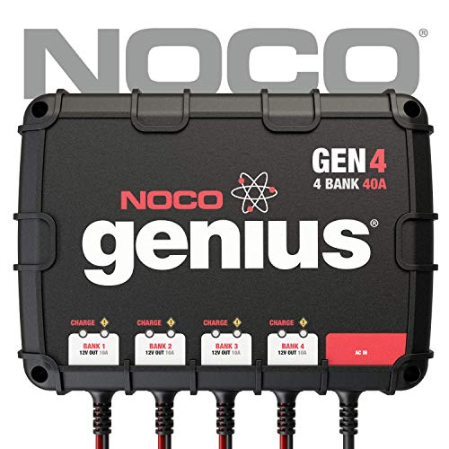 NOCO Genius GEN4 40 Amp 4-Bank Waterproof Smart On-Board Battery Charger