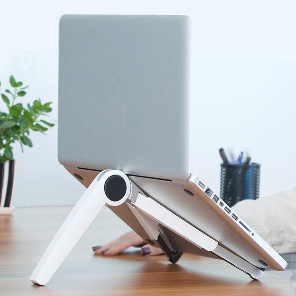 Ergonomic Portable,Black Lightweight Portable Adjustable Laptop Stand Ventilation Aluminum Folding Laptop Stand