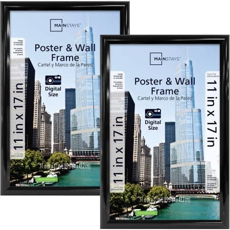 Mainstays 11x17 Trendsetter Poster Frame, Set of 2