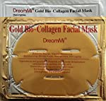 DreamMi 10 Pieces (Comes in a Box) Gold Bio-Collagen Face Facial Mask, Anti Wrinkle/Aging, Repair Skin, Deep Moisture, By DreamMi