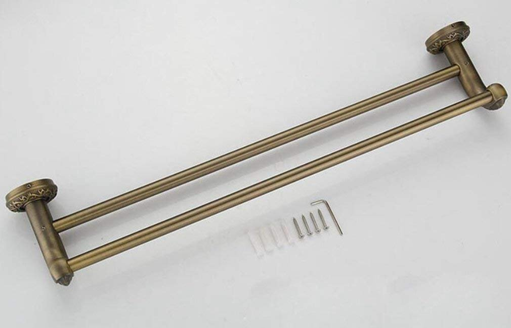 Accesorios de bantilde;o,Sucastle nuevo verde verde verde antiguo todo el cobre de bronce de doble polo metal colgante trajes de bantilde;o toallero toallero c7e345