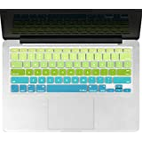 """Kuzy - Green/Aqua Ombre Colors Keyboard Cover Silicone Skin for MacBook Pro 13"""" 15"""" 17"""" (with or w/out Retina Display) iMac and MacBook Air 13"""" - mix Green/Aqua Ombre"""