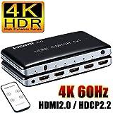 ELEVIEW 4K 60Hz HDMI2.0 セレクター4入力1出力HDMI切替器3DHDRHDCP2.2PS4pro/PS4/FireTV対応hdmiスイッチャー自動切り替えリモコン付き