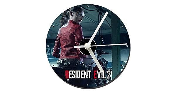 MasTazas Resident Evil 2 Remake Claire Redfield Reloj CD Clock 12cm: Amazon.es: Hogar