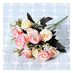 JIAHUAHUHH Single Bundle of European Artificial Flowers, Fake Flowers, Single Decorative Silk Flowers,Rosemary Powder,33cm 20