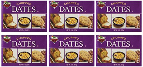 Chopped Dates Amport Foods 8 Oz (Pack of 6)