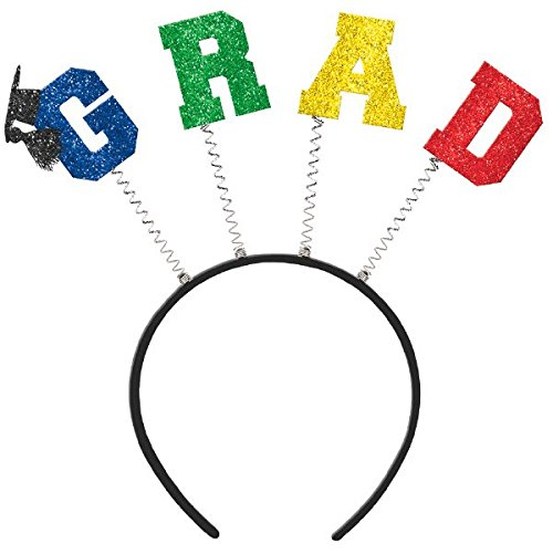 Extraordinary Graduation Party Grad Head bopper with Glitter & Felt , Plastic, 10