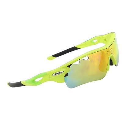 Duco Gafas de Sol Deportivas, polarizadas, con 5 Lentes Intercambiables. Protección UV400 Anti Rayos UVA UVB UVC